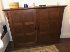 Wood cabinet shoe closet organizer