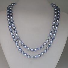 Perlen Kette mit Südsee Perlen Ø 8,1 mm Endlos ohne Verschluß ca. 84cm