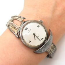 "925 Sterling Silver Vintage Golana Incabloc 17 Jewels Swiss Wrist Watch 6 3/4"""