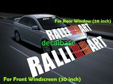 Ralliart SunStrip Visor Windshield & Rear Window Decal Set For Mitsubishi
