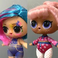 Lot 2 Lol Surprise Doll Hairgoals SNOW BUNNY & Splatters Series5 - Color Change