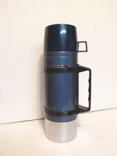 Vintage 1981 Seeley Blue Collar Work Thermos 1.05 Quarts