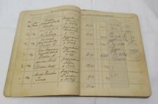 1930/1936 mit Poststempel geführtes Einlieferungsbuch RADEBERG Cigarren Fabrik