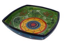 Square Salad Bowl 22 cm sq Traditional Spanish Handmade Ceramic Pottery