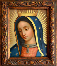 ''Our Lady of Guadalupe'' Virgen de Guadalupe oil painting spanish colonial art