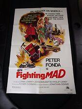Vintage 1 sheet 27x41 Movie Poster Fighting Mad 1976 Peter Fonda Lynn Lowry