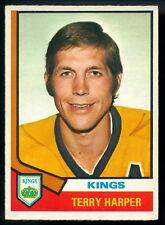 1974-75 OPC O PEE CHEE HOCKEY #55 TERRY HARPER NM L A LOS ANGELES KINGS CARD