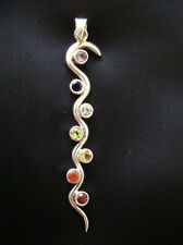 Pendentif serpent Kundalini 7 chakras Energie ésotérisme Soins Rare
