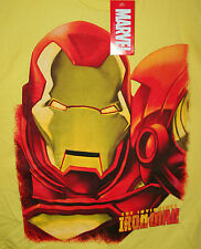Marvel Comics Yellow The Invincible Iron Man T-Shirt New LG 2012 Mad Engine