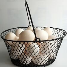 EGG BASKET FOR GATHERNG CHICKEN... POULTRY... EGGS ...Black..