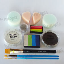 Funtopia's Rainbow Basics Face Painting Kit 8 - Global Body Paint Party Cosplay