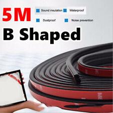 5M Sloping B Shaped Car Door Seal Strip Rubber Trunk Hood Edge Insulation Trim