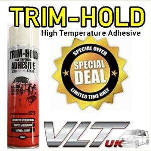 TRIM HOLD High Temperature fix Adhesive Spray Van Car Carpet Heat Resistant Glue