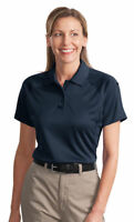 CornerStone Women's Three Button Pen Pocket Short Sleeve Polo Shirt. CS411