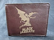 Black Sabbath men's leather bi fold wallet