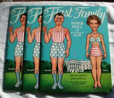 "1981 First Family Paper Doll & Cut-Out Book 9"" X 12"" Complete/Unused Set Of 3"