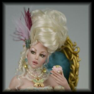 OOAK Rococo Faerie Pinup Fantasy Cosclay Art Doll Sculpture cbcstudio