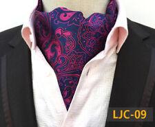 1d6668d616c4b Azul Marino Rosa Mezcla de Seda Corbata Ascot Bolsillo Cuadrado Set Boda  Pañuelo