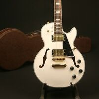 LP Semi Hollow Body Electric Guitar White colors Gold Hardware High Quality