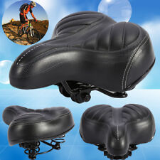 Wide Extra Comfy Bike Bicycle GEL Cruiser Comfort Sporty Soft Pad Saddle Seat H2