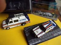 LOT véhicules d'assistance Rallye 1/43  Altaya  + fascicule TEAM ROTHMANS + RARE