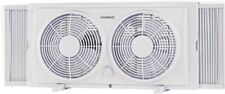Fan Window Twin Wht 2sp 7in,No F-5280A,  Homebasix