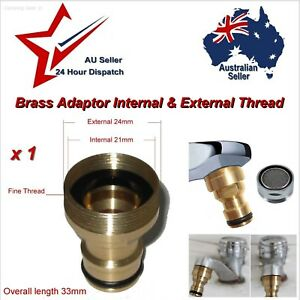 """Brass Kitchen Laundry Faucet Tap Threaded Hose Adaptor 12mm (1/2"""") Hose Fitting"""