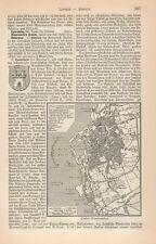 1883= LIVORNO = Italia = Antica Mappa Topografica