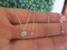 .10 CTW Diamond Necklace 18k White Gold Nx37 sep