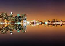 NEW YORK CITY LIGHTS NEW A3 CANVAS GICLEE ART PRINT POSTER