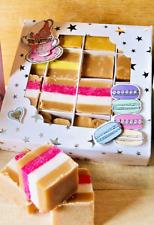 British Afternoon Tea Inspired Fudge Gift Box. Maltesers, Clotted cream, Vanilla