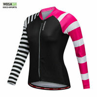 Women Long Sleeve Cycling Jersey Breathable Full Zipper Bicycle Tops Bike Jersey