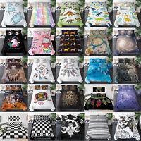 3Pcs Kids Duvet Cover Queen Twin King Size Bedding Set 3D for Boy Girl Comforter