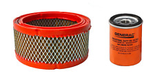 Generac OEM Air Filter 0C8127 & Oil Filter 070185E (070185ES) Generator Part Kit
