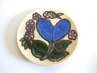 Schöner Porzellan Wandteller mit Blume Glasur