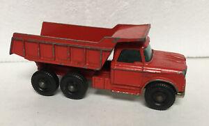 Vintage Lesney Matchbox #48 Red Dodge Dumper Truck HO Diecast Dump