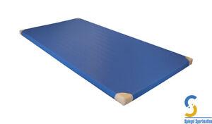Turnmatte, Gymnastikmatte 200x100x6 cm mit Lederecken* deutsche Handarbeit! RG25