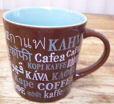 Starbucks Coffee Mug Cup Brown Blue Cafe Kahve Caffe 16 Fl Oz 2008