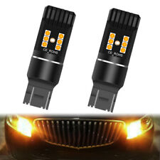 2X 7443 7444 7440 LED Turn Signal Light Amber Yellow Error Free Parking Reverse