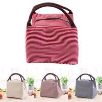Women Kids Girls Cute Cartoon Canvas Picnic Lunch Insulated Bag Cosmetic Handbag