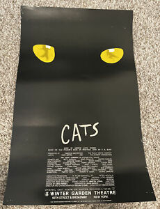 """Cats Musical Theater Broadway Window Card Poster 14"""" x 22"""""""