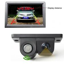 2-in-1 Car SUV Reverse Parking Radar Sensor LCD Car Rear View Back Camera US