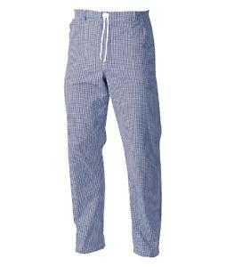 Unisex Blue Check Chef's Trousers Kitchen Uniform Pant Trouser