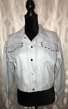 Fantasi Vintage Sz Large Women's Light Denim Jacket Sharp!