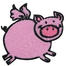 Flying Pig Applique Patch - Wings, When Pigs Fly Badge 2