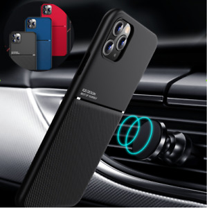 For iPhone 12 Pro Max 11 XR SE 7 8 Plus Shockproof Rubber Magnetic Leather Case
