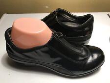 Cole Haan WATERPROOF Black Patent Leather Zip Shoes Sz8AA