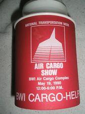 BALTIMORE WASHINGTON Air Cargo 1990 plastic foam cup  red & white 10 oz NEW