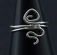 Bague de pied -bijoux d' orteil ethnika Ashna ajustable en metal blanc  W92 6300