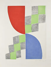 "Abstract Etching by Sonia Delaunay Signed Ltd Edition #71/100 26""x20"""